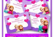 Valentine's Day Frozen Printable Tags. Instant Download.