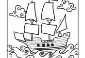 Worksheets: Mayflower Coloring Page
