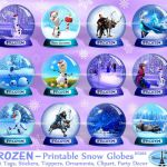 aartz Frozen Gift Tags, Frozen Birthday Party, Can be used as Frozen Cupcake Top...