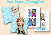 free frozen centerpieces printable