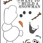 free frozen printable-olaf game. do you want to build a snowman