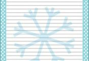{free} printable Frozen, Stationery 2