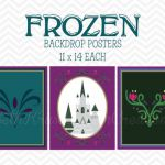frozen inspired printable backdrop  INSTANT by bethkruse23 on Etsy, $8.00