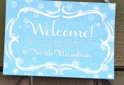 frozen printables | Frozen Party Printables - Welcome Sign - North Mountain