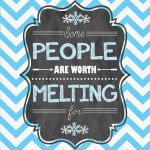 two free printable Frozen quotes that can be used as decoration