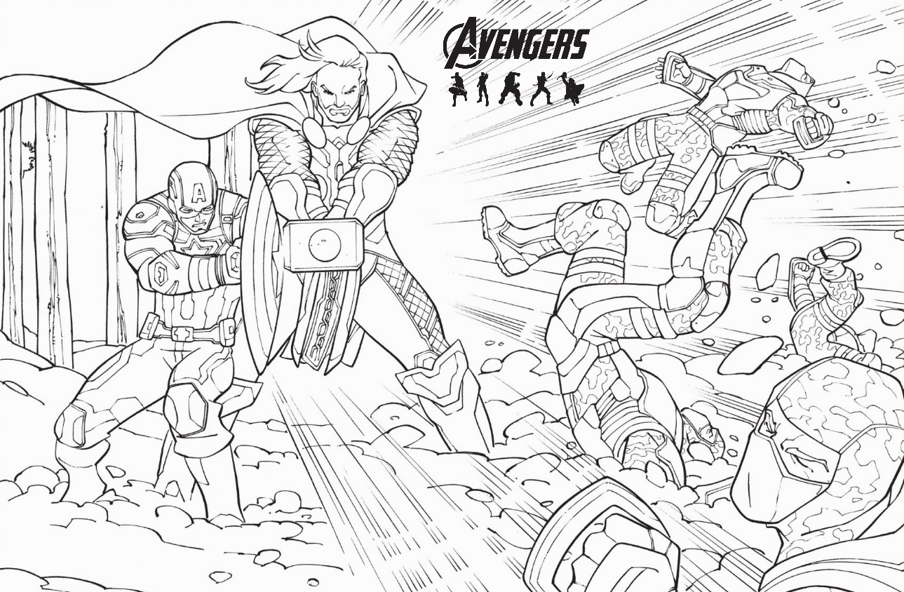 Marvel Avengers Ultron Coloring Page Wallpaper