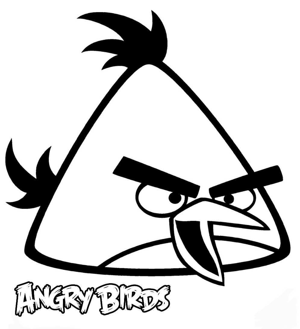 Chuck is a very goofy and hyperactive bird. Yellow angry bird coloring pages Wallpaper