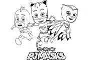 Pj masks for children - Beautiful PJ Masks coloring page to print and color. Fro...