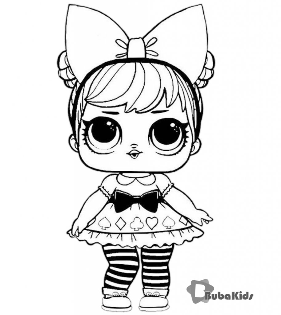 lol-surprise-character-coloring-page-bubakids-913x1024 Lol Surprise Doll Coloring Pages for printing and coloring. Cartoon