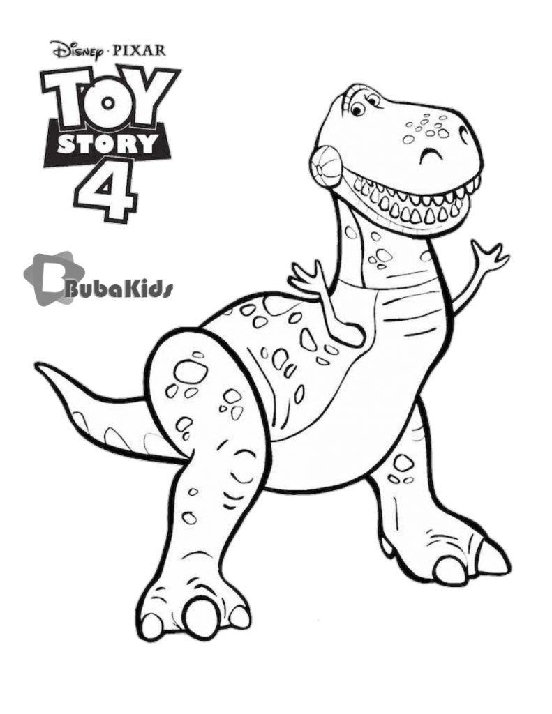 rex-toy-story-4-coloring-page-791x1024 This is Rex! The meanest, most terrifying dinosaur who ever lived! Cartoon
