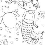 Download this simple mermaid coloring sheet for kids for a calm, indoor activity...