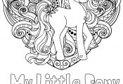 Mandala Love My Little Pony Coloring Pages