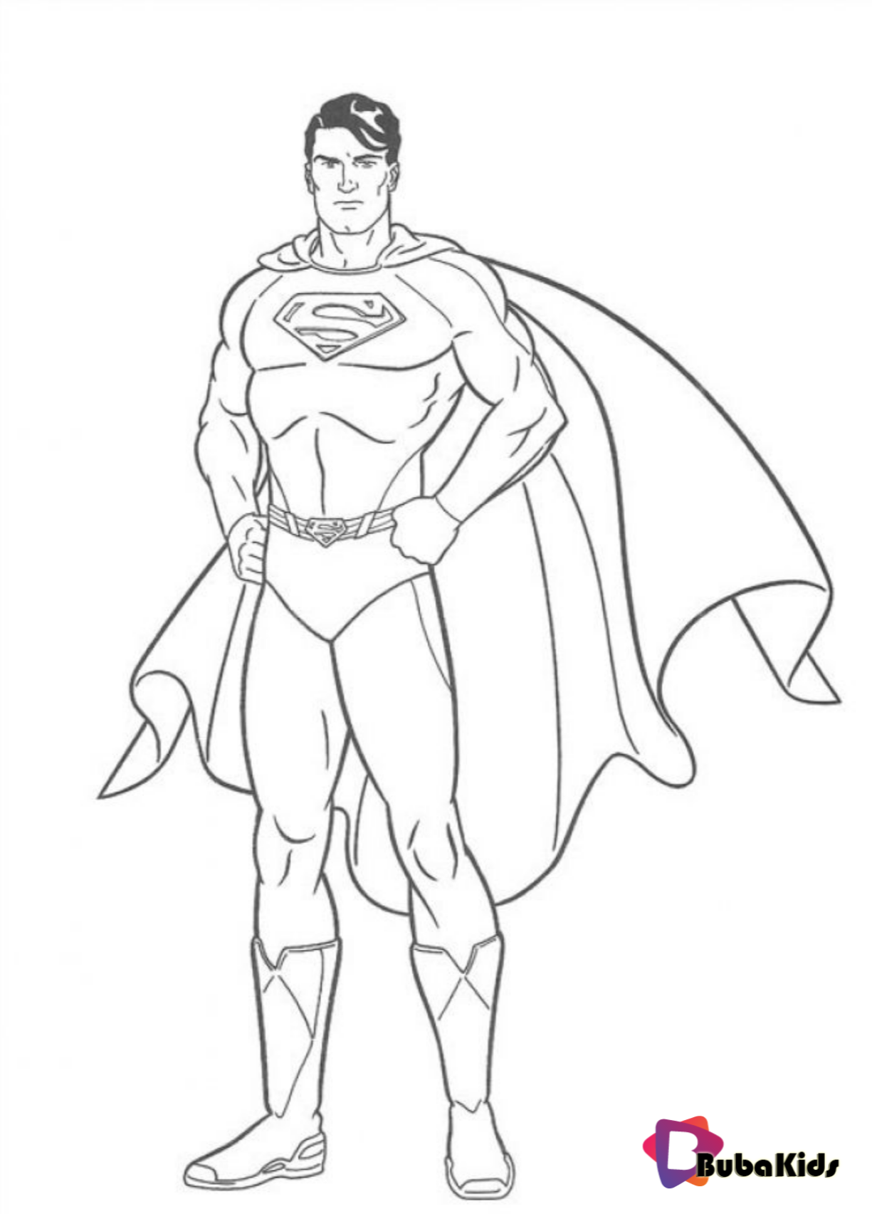 Printable Superman Coloring Pages on bubakids.com Wallpaper