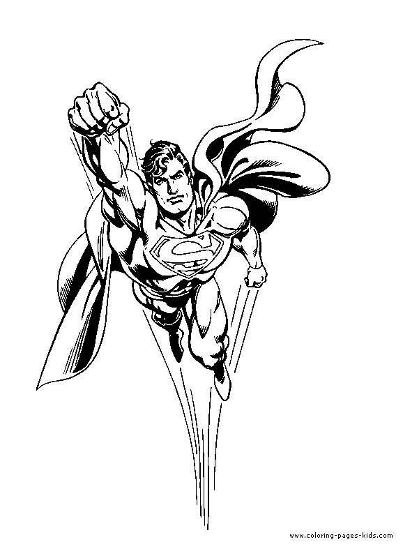 Superman Coloring page for kids Wallpaper