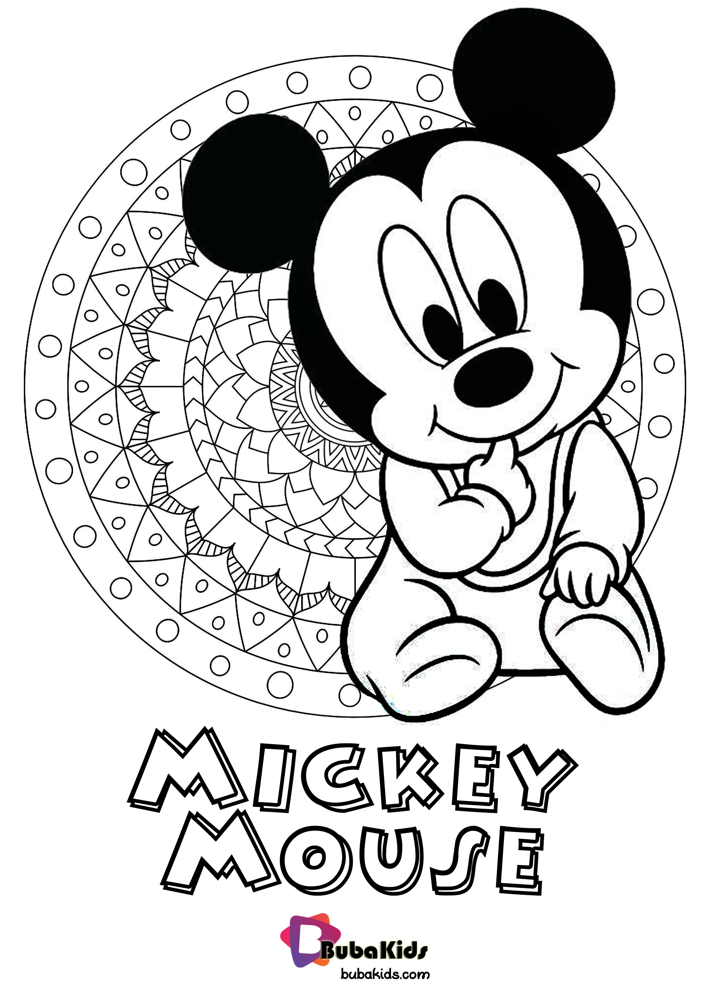 Cute Baby Mickey Mouse Coloring Pages Printable Free ...