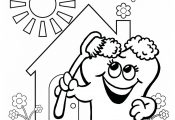 Kids Dental Coloring Pages