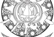 Pumpkin Happy Halloween Coloring Pages