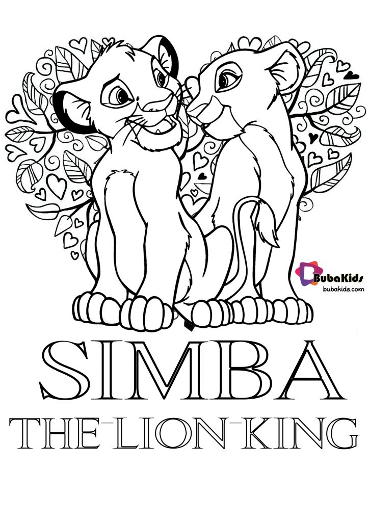 simba-the-lion-king-bubakids-coloring-pages-724x1024 Simba The Lion King Bubakids Coloring Pages Animal