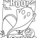Boo Halloween Coloring Page