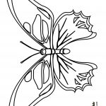 Bubakids Realistic Butterfly Coloring Page