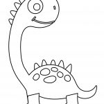 Cute Dinosaurs Coloring Page For Kids