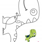 Cute Lil T-rex Coloring Page