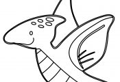 Dinosaurs Pterodactyl Coloring Page
