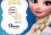 Free Disney Frozen Princess Elsa Birthday Invitation Card