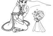 Disney Princess Anna Coloring Page