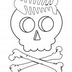 Funny Skull Coloring Page
