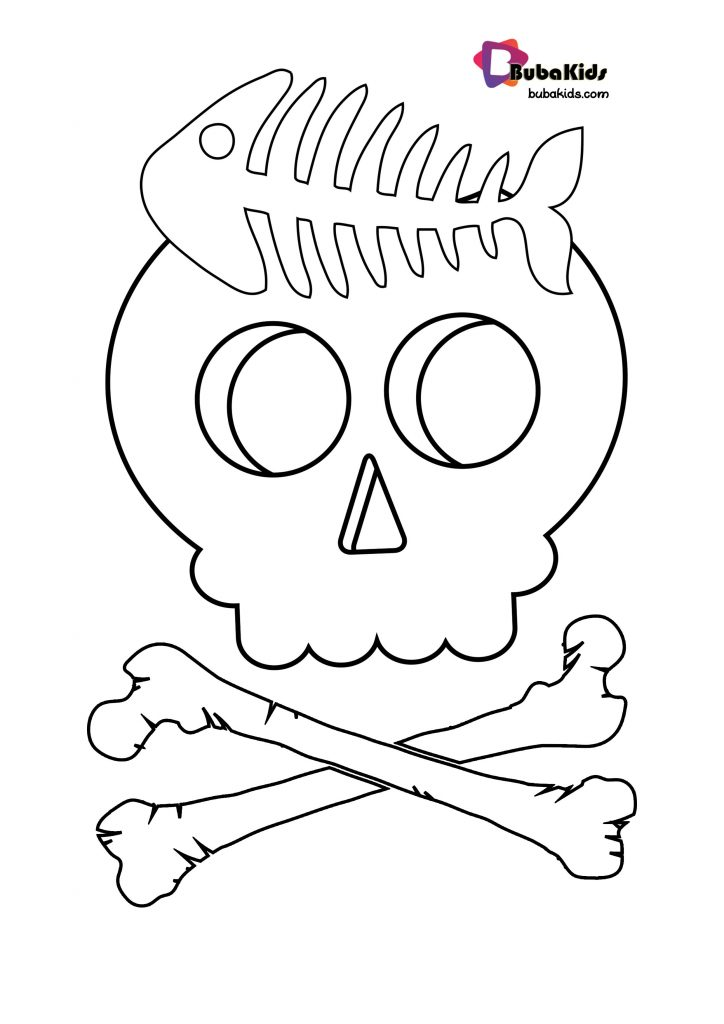 funny-skull-coloring-page-724x1024 Funny Skull Coloring Page Cartoon