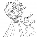 Little Princess Anna Coloring Page