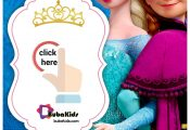Printable Elsa Frozen Birthday Card Invitation Template