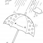 Rainy Day Umbrella Printable Coloring Page