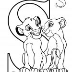 Simba Letter S Coloring Page for Toddler