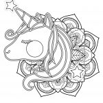 Cute Unicorn Mandala Coloring Page