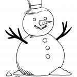 Bubakids Snowman Coloring Page
