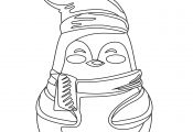 Cute Penguin Coloring Page