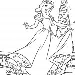 Dancing Snow White Coloring Page