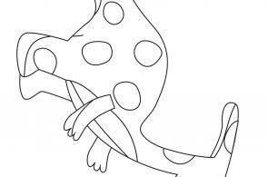 Dinosaurs Preschool Kids Coloring Page