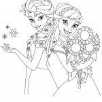 Frozen 2 Princess Anna Elsa Coloring Page