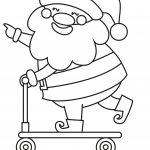 Fun Santa Playing Coloring Page