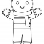 Gingerbread Coloring Page Winter Costume