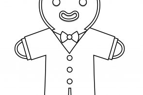 Gingerbread Cute Costume Coloring Page