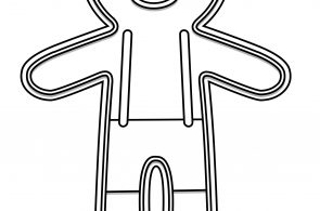 Gingerbread Little Kids Coloring Page