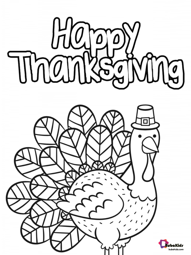 gobble-till-you-wobble-happy-thanksgiving-coloring-page-768x1024 Free and printable Happy thanksgiving coloring page. Cartoon