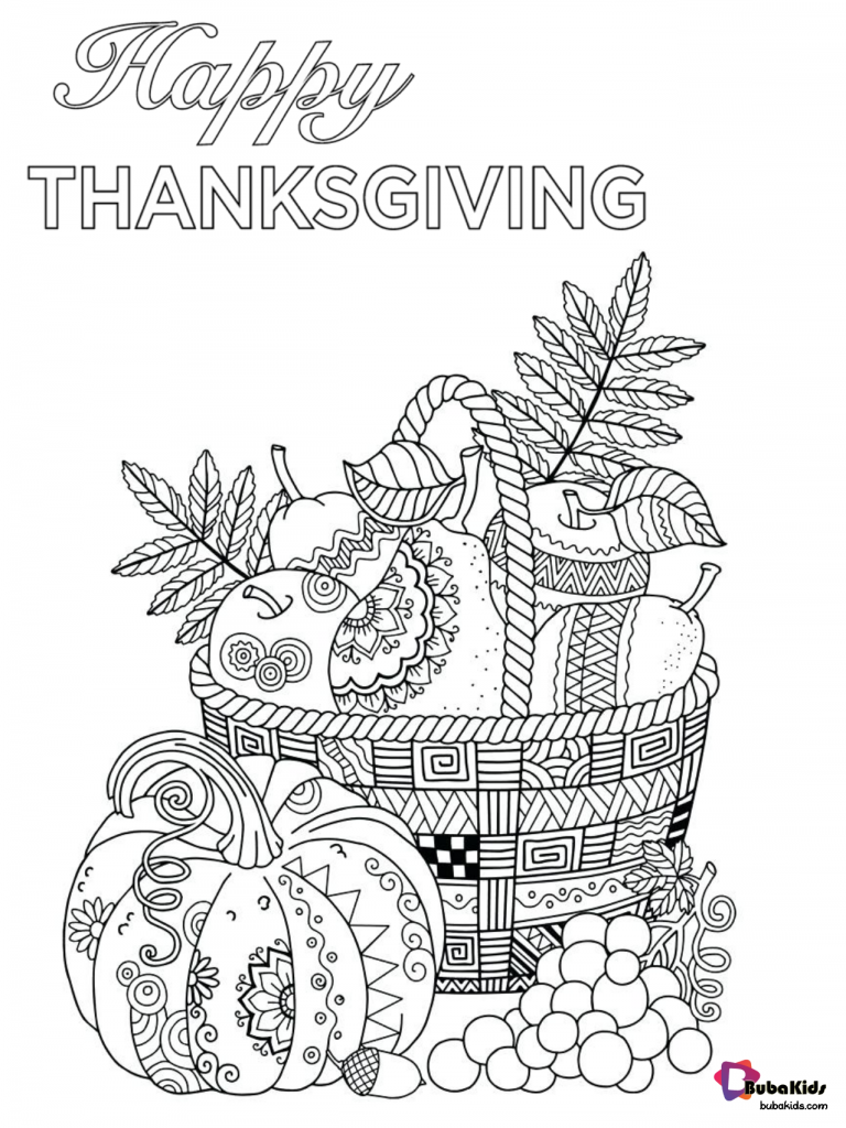 happy-thanksgiving-printable-coloring-page-768x1024 Free download and printable Happy Thanksgiving coloring page. Cartoon