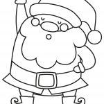 Holly Jolly Christmas Santa Coloring Page