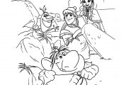 Magical Troll Disney Frozen Coloring Page
