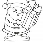 Santa is Back With Gift Coloring Page